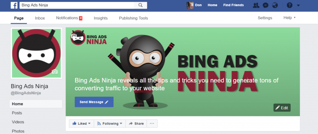 Bing Ads Ninja FB Page