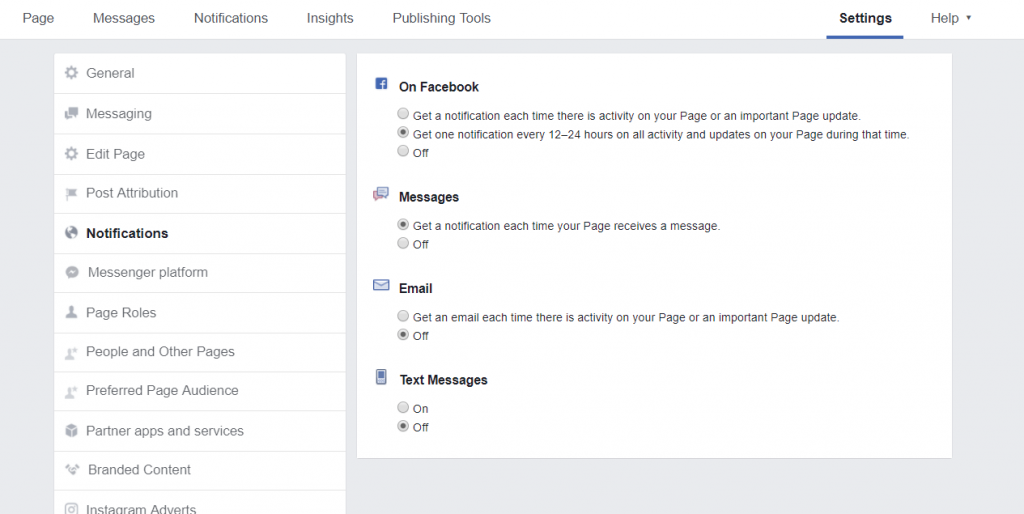 FB Page Notification